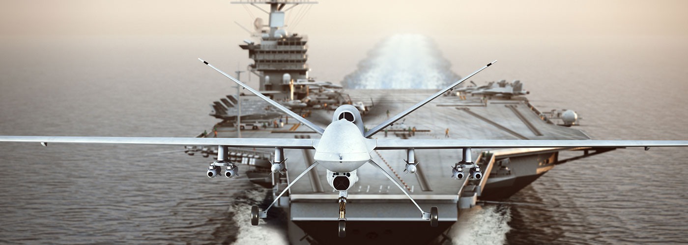 Aircraft Carrier Launching Drone